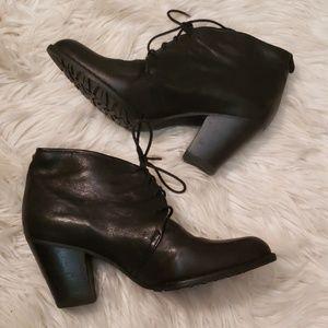 Stuart Weitzman Black Leather Booties